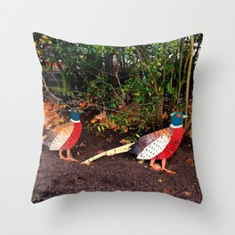 Two Pheasants On The Sidelines Throw Pillow