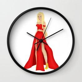 Mor Dress Design Wall Clock