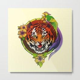 Totem animals: tiger Metal Print