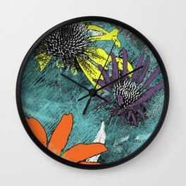 Flower Trio Wall Clock