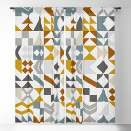 Mid West Geometric 05 Blackout Curtain