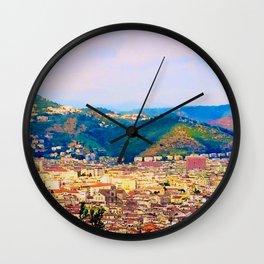 Italian Cityscape Wall Clock