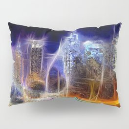 Starry Night New York City Pillow Sham