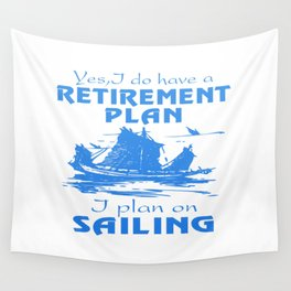 SAILING PLAN Wall Tapestry