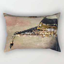 New Orleans French Quarter Saxophone Rectangular Pillow