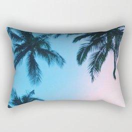 Cotton Candy Palms Rectangular Pillow