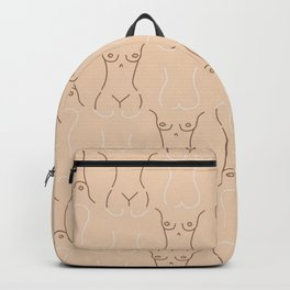 Nude, nudes line drawing/ pattern of female body Backpack