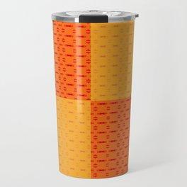 Yellow Orange Pattern Travel Mug