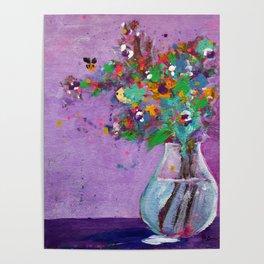 Flower Arrangement in Vase #1 Poster