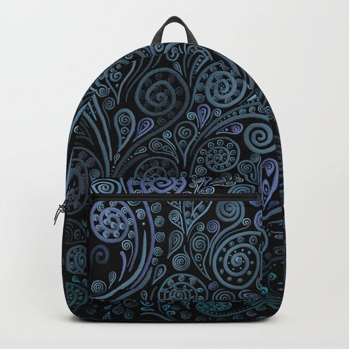 3D ornaments, blue Backpack