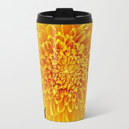 Coffee Brown Color Golden Yellow Chrysanthemums Travel Mug