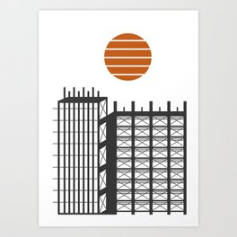 City in construction Art Print
