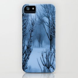 Foggy Winter Solstice iPhone Case