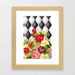 Chesterfield 'n Flowers Framed Art Print