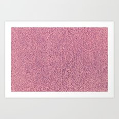 Motel Pink Shag Pile Carpet Art Print