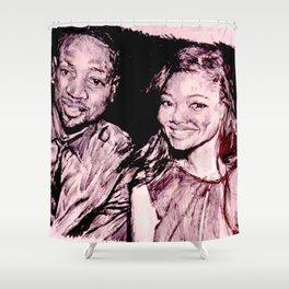 Gabrielle & Dwayne Shower Curtain