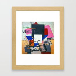 Kazimir Malevich Composition with Mona Lisa Framed Art Print