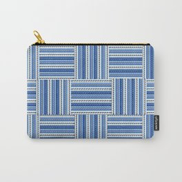 Blue check waves Carry-All Pouch