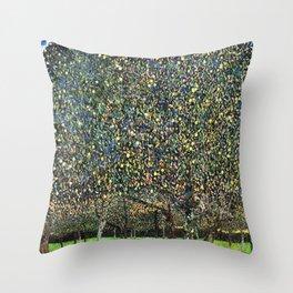 Field of trees - Gustav Klimt Throw Pillow