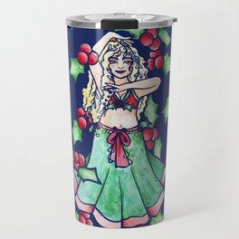 Mistletoe Belly Dancer Travel Mug