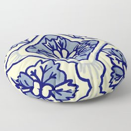 TALAVERA MEXICAN TILE IN BLU BIG Floor Pillow