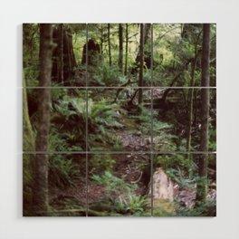 Vancouver Island Rainforest Wood Wall Art
