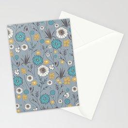 Emma_Wildflowers in Faded Denim Blue Stationery Cards