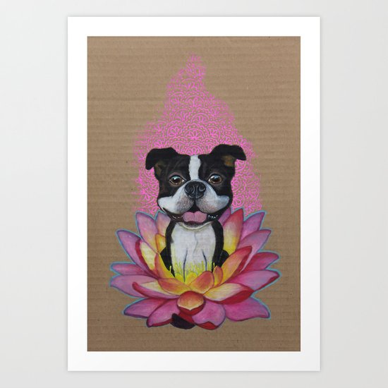 Zen Boston Terrier Art Print