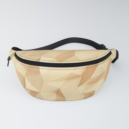 Low poly wood design Fanny Pack