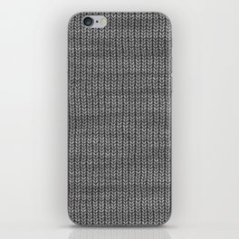 Antiallergenic Hand Knitted Grey Wool Pattern - Mix & Match with Simplicty of life iPhone Skin