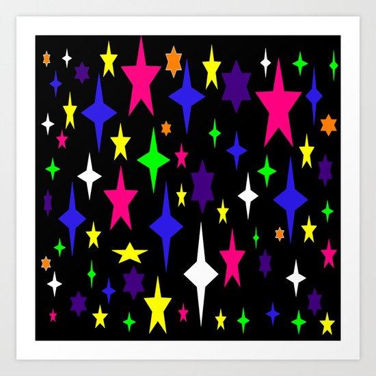Colorful Atomic starS Art Print