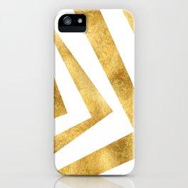 ART DECO VERTIGO WHITE AND GOLD #minimal #art #design #kirovair #buyart #decor #home iPhone Case