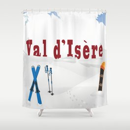 Val d'Isère, French Alps Shower Curtain