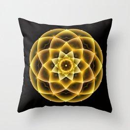 Sacred Gold Mandala Throw Pillow