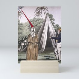 A British sailor and an exotic figure from 'Scenes of European explorers in Africa, native Africans, Mini Art Print