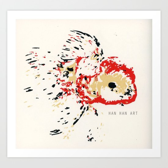 Gold Fish 4 Art Print