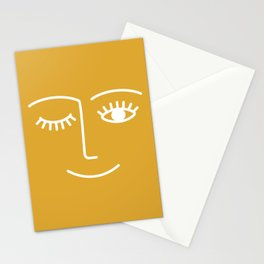 wink / mustard Stationery Cards