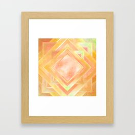 Mosaic Tile // Yellow Starburst Framed Art Print