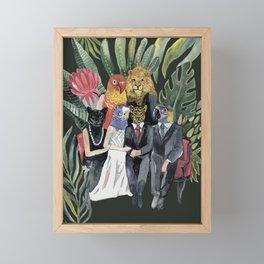 animals family portrait Framed Mini Art Print
