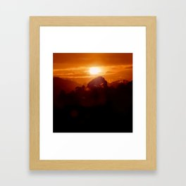 Sunset on the wild forest in the Andes Mountains Framed Art Print