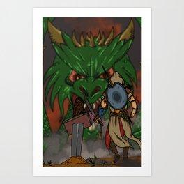 Ancelin vs Drecus Art Print