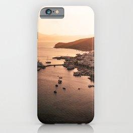 Milos port sunset - Cyclades Greece iPhone Case