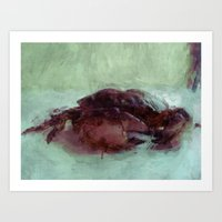 crab Art Prints featuring Crab by Katia Olivera