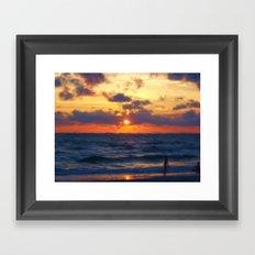 Sunset on Marco Island Framed Art Print