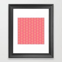 Happy Oval Gems Framed Art Print