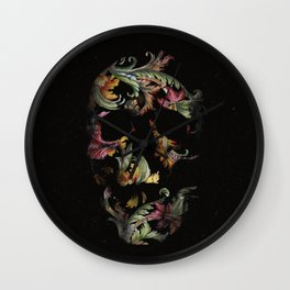 Paisley Skull Wall Clock