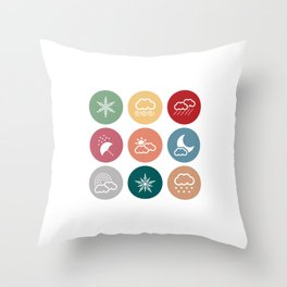 Weather symbol Throw Pillow