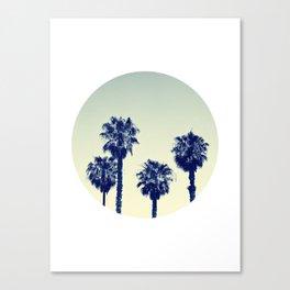 retro palm trees Canvas Print