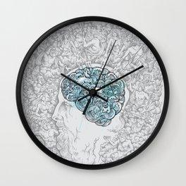 Ancient Brainstorm grey Wall Clock