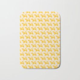 Let's Go Outside - Origami Yellow Dog Bath Mat